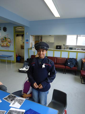 Rahim models postman's uniform