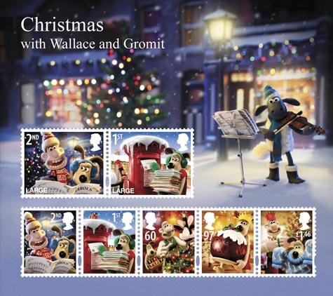 Wallace and Gromit miniature sheet