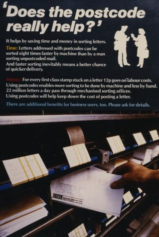 Royal Mail poster Poster relating to service standards (1983)