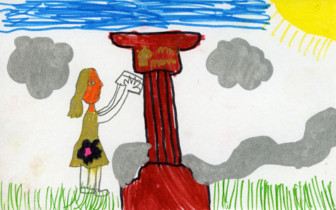 Drawing of the Queen Victoria Fluted Pillar Box