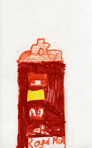 Drawing of the Queen Victoria 'Suttie' Scottish Pillar Box
