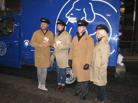 Inspectors from Battersea Dogs & Cats Home.