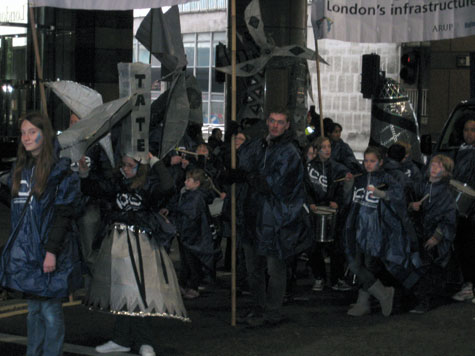 One of several carnival groups.