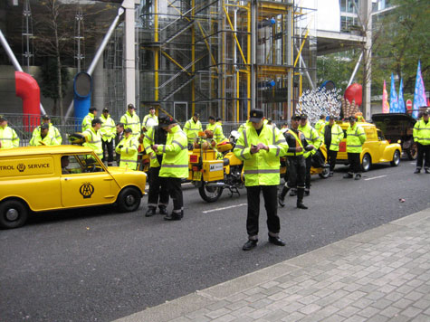 The AA, with their fleet of old vehicles. Thankfully we didn't need their assistance during the parade.