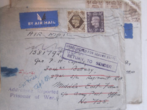 A misaddressed airmail letter from 1941