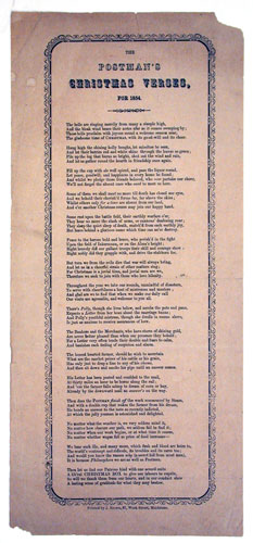 The Postman's Christmas Verse for 1854