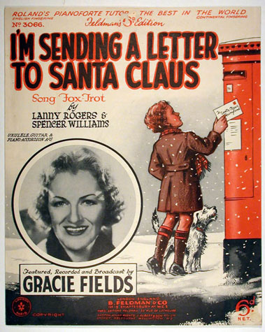 Illustrated Songsheet: I'm sending a letter to Santa Claus (c. 1939)