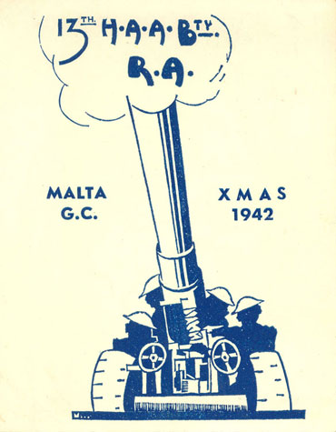 Maltese military Christmas card (1942)