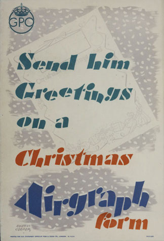 Send him greetings on a Christmas Airgraph form (1943)