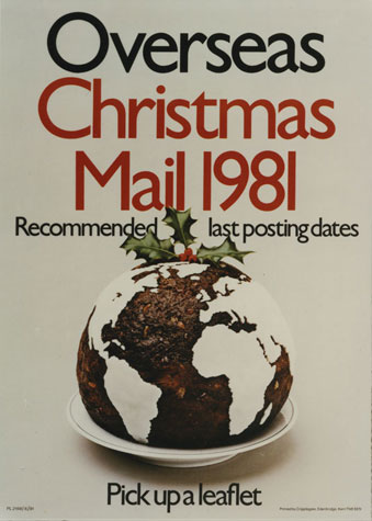 Overseas Christmas mail 1981. Recommended last posting dates (1981)