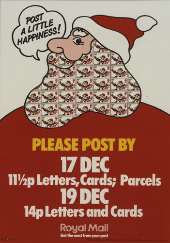 Poster advising on final Christmas postal dates, 1981.