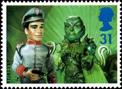 Stringray stamp from 1996 50th Anniversary of Children's Television issue, 1996
