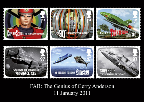 FAB: The Genius of Gerry Anderson stamp issue