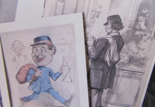 Caricatures of postmen from the Morten Collection