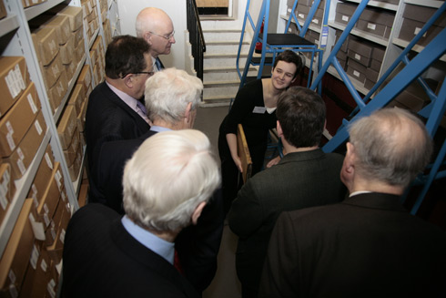 The group tours the repository