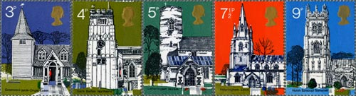 Village Churches stamp issue, 1972