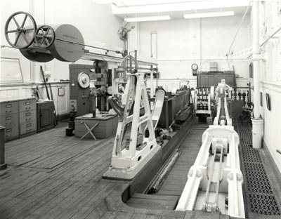 Chain Testing Machinery from the railway era within the proposed New Centre building