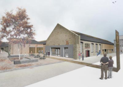 Architect's design for the New Centre main entrance