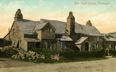Postcard showing Old Post Office, Tintagel, circa 1910