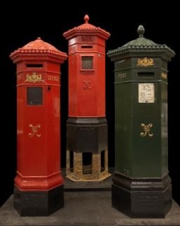 Three Penfolds pillar boxes in the collection of the BPMA