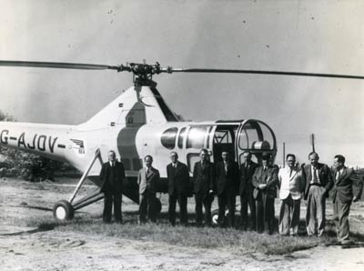 Helicopter mail trials in Norfolk, 1949