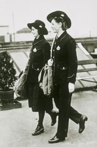 Postwomen in 1914. We have many photos which show Post Office employees in their uniforms.