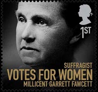 Millicent Garrett Fawcett who was honoured with a stamp in last year's Women of Achievement series.