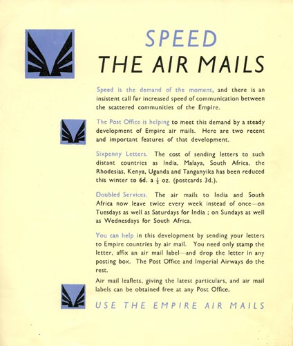 Speed the Air Mails