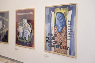 Posters on display as part of Designs on Delivery