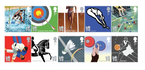 The first of the London 2012 Olympics stamp issues