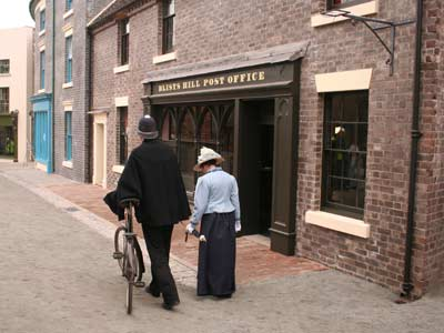 The replica Victorian Post Office at Blists Hill. The Museum of the Post Office in the Community is located above the post office.