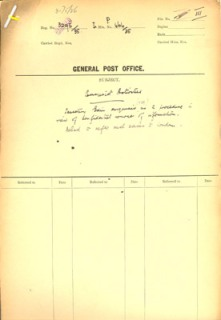 POST 121/357 in our archive details investigations into the communist activities of Post Office staff.