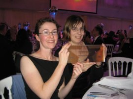 Deborah Turton and Helen Dafter from the BPAM receiving the award