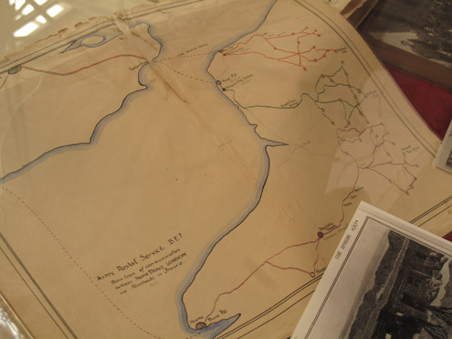 An original postal distribution map used on the Western Front