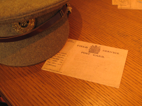 Write a postcard from the trenches