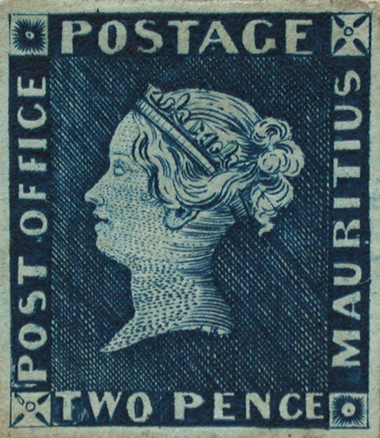 Example of the 'Post Office' Mauritius in the Royal Philatelic Collection