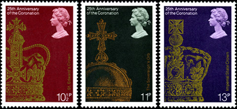 Stamps from 25th Anniversary of the Coronation, 1978