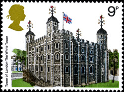 The Tower of London on a stamp