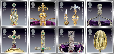 The Crown Jewels stamps