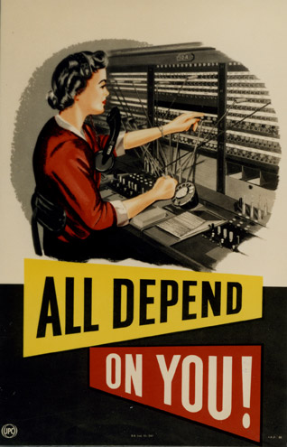 All depend on you! August 1954 (POST 110/1626)