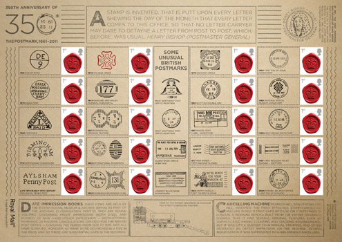 350 Years of the Postmark Generic Sheet