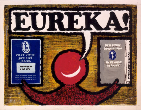 Eureka. Artwork for a poster by Stan Krol, c. 1960 (POST 109/902).