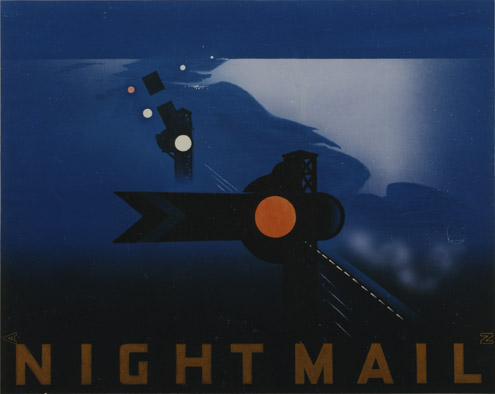 Night Mail - artwork for a poster by Pat Keely (109/377)