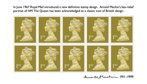 Royal Mail Machin centenary miniature sheet (14 September 2011)
