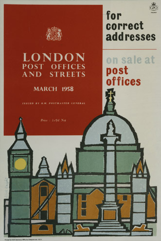 London Post Offices and Streets, 1958, Alick Knight (PRD0939)