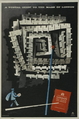 A Postal Guide to the Maze of London, 1951, Lewitt-Him (PRD0639)