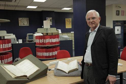 Duncan Campbell Smith in the BPMA archive search room.