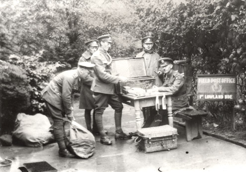 Photo of a REPS unit on the Western Front in WW1 (POST 56/6)
