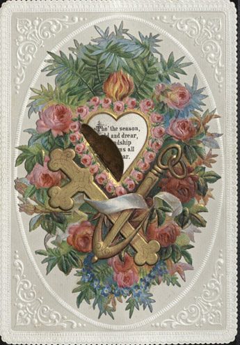 Embossed Christmas card, c.1880 (OB1995.27/5/02)