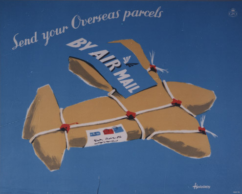 Send your overseas parcels by Air Mail, April 1954 (POST 110/3220)